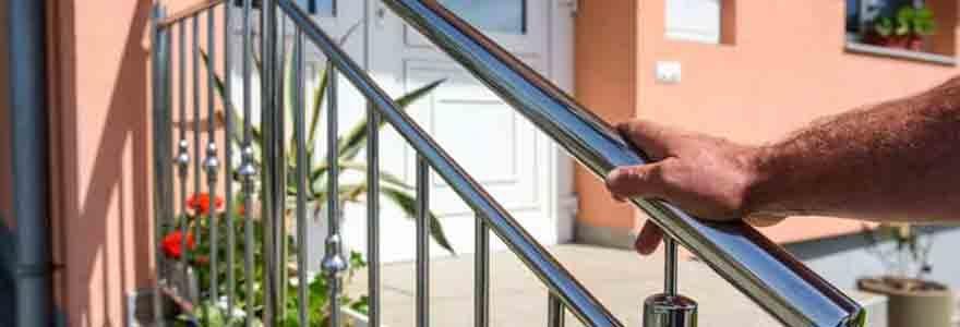 rampes d'escalier en inox